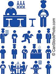 voedsel dienst, pictogram