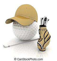 voelen zich thuis, golf, spelend