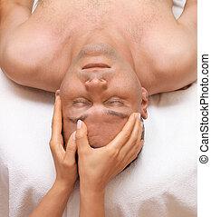voer massage aan