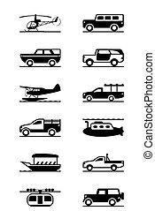voertuigen, avontuur, safari