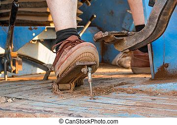 voet, detail, w, farmer