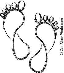 voet drukt af