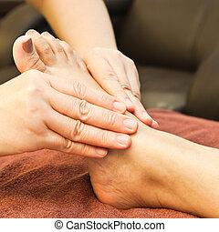 voet, reflexology, masseren, behandeling, thailand, spa