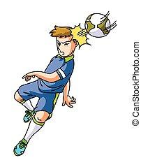 voet, speler, bal