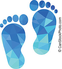 voet, tongschar, pictogram