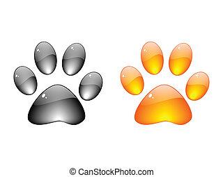 voetafdruk, dog