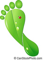 voetafdruk, ecologic