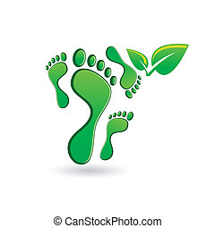 voetafdruk, pictogram