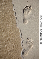 voetafdrukken, golf