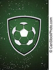 voetbal, badge