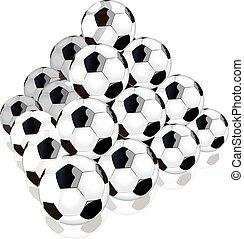 voetbal, berg