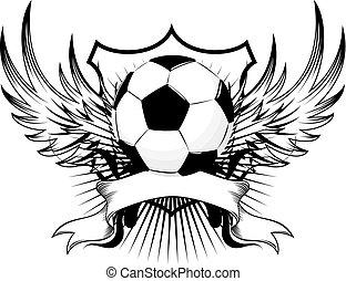 voetbal, blazoen