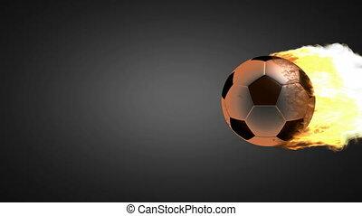 voetbal, burning