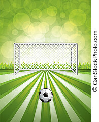 voetbal doel, bal