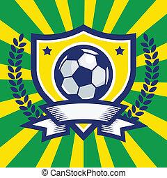 voetbal, embleem