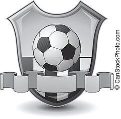 voetbal, embleem, schild
