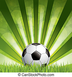 voetbal, gras, bal