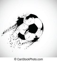 voetbal, grunge, bal