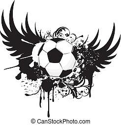 voetbal, grunge