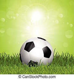voetbal, in, gras