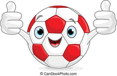 voetbal, karakter, voetbal