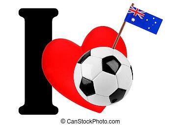 voetbal, liefde, bal