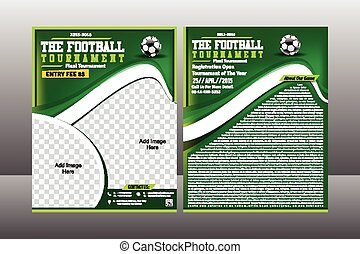 voetbal, mal, toernooi, flyer