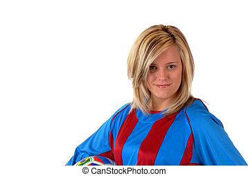 voetbal, meisje