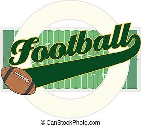 voetbal, met, staart, spandoek