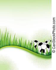 voetbal, ontwerp, flyer