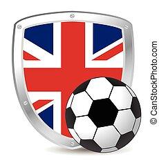 voetbal, schild, uk