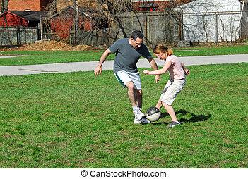 voetbal, spelend