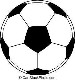 voetbal, vector, bal