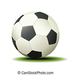 voetbal, witte bal, vrijstaand, achtergrond