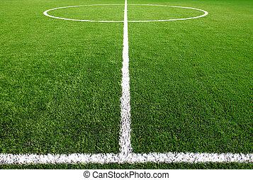 voetbalveld, gras