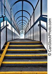 voetbrug, trap, voetganger, flyover