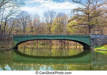 voetbrug, vooruitzicht, park, brooklyn