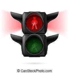 voetganger, stoplichten
