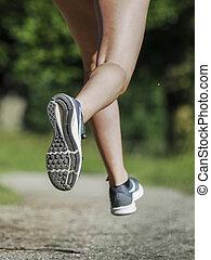 voetjes, jogger, femal