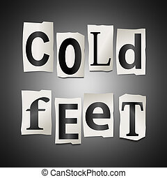 voetjes, koude, concept.