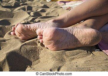 voetjes, tongschar