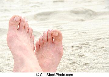 voetjes, zanderig