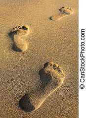voetsporen, zanderig