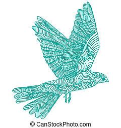 vogel, fliegen