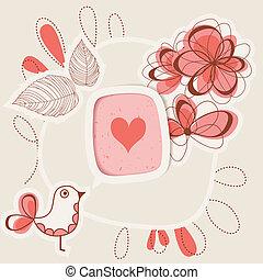 vogel, het zingen, liefde