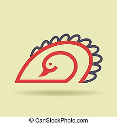 vogel, pictogram, vector