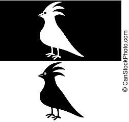 vogel, schaduw