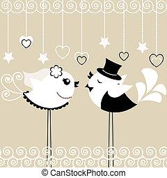 vogel, trouwfeest