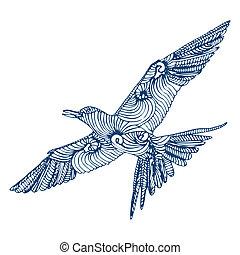 vogel, vlieg