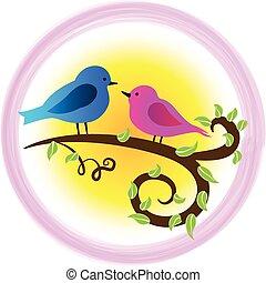 vogels, liefde, symbool